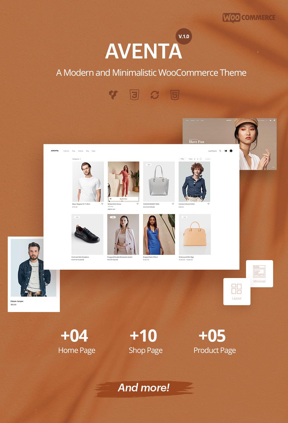 Aventa - Minimal & modern woocommerce theme