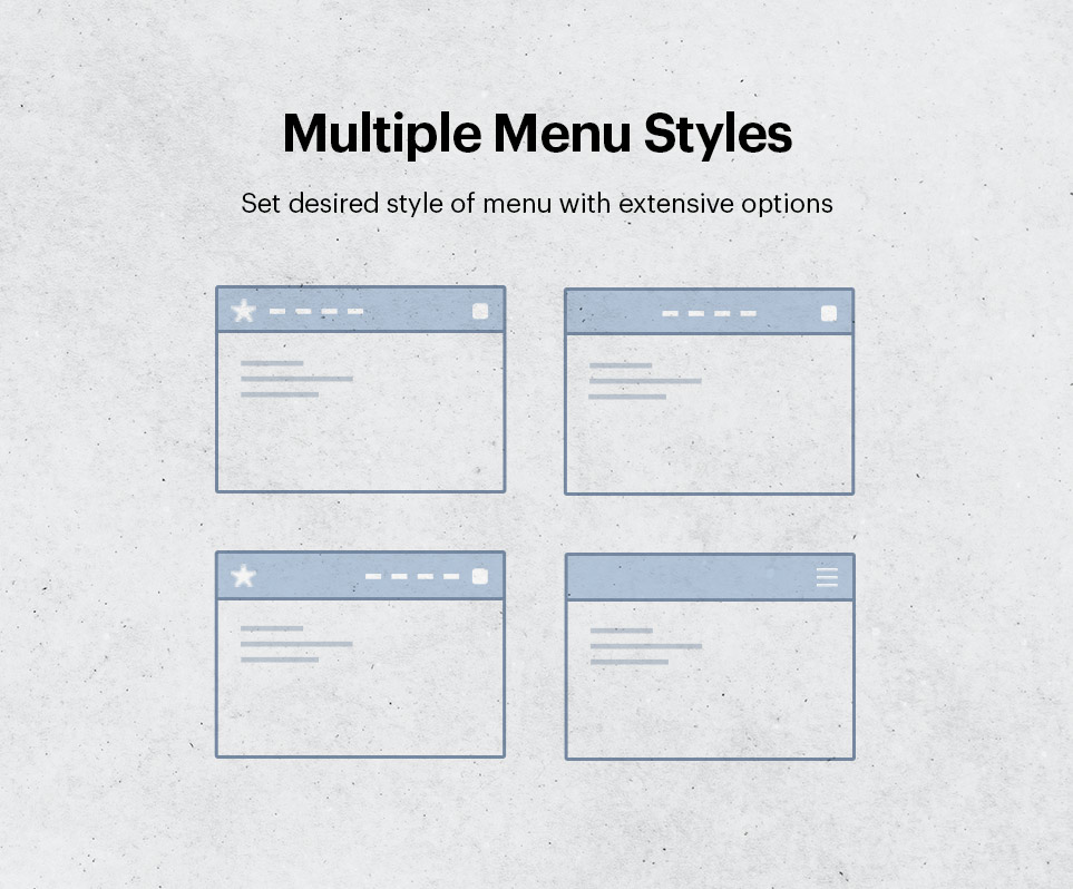 Multiple menu styles